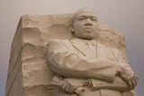 Close Up of the Dramatic National Memorial to Dr Martin Luther King