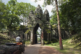 The South Gate to Angkor Thom  a Temple Complex Near Angkor Wat