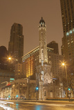 The Historic Chicago Water Tower  on Michigan Ave in the Magnificent Mile  2013