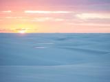 Brazil's Lencois Maranhenses National Park Sand Dunes and Lagoons at Sunset