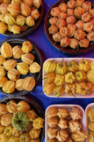 Ground Cherries on Display at Agricultural Fair in the Andes of Peru