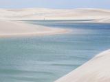 Brazil's Lencois Maranhenses Sand Dunes and Lagoons on a Sunny Afternoon