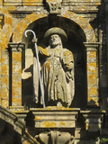 Statue of Saint James on the Facade of the Cathedral of Santiago De Compostela