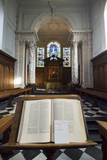 A Bible on a Stand in Pembroke College Chapel  Cambridge University  England