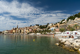 Sablettes Beach  Saint Michel Church and the Old Town of Menton