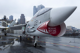 An A-7 Corsair Jet on the Deck of the Uss Intrepid in New York City