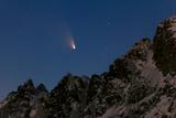 Comet Panstarrs  C/2011 L4  Streaking over Ocean-Side Mountains at Twilight