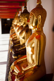 Buddha Statues in the Wat Pho Temple Complex in Bangkok