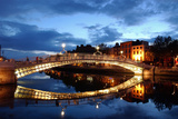Ha' Penny Bridge over the River Liffey in Dublin  Ireland