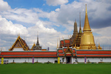 A Cloud-Filled Sky over the Thai Grand Palace