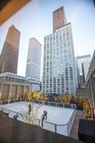 Peninsula Hotel's Skating Rink and John Hancock Tower and Water Tower Place  2013