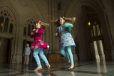 Sisters Dance Inside the National Cathedral  Washington  Dc