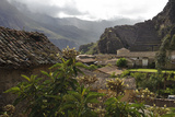 Ancient Stone and Adobe Houses and Narrow Streets in Ollantaytambo