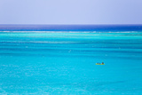 Kayakers in the Turquoise Waters of Grace Bay  in the Turks and Caicos Islands