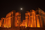 The Moon Above Luxor Temple  at Night