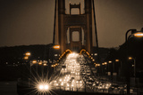 Night on the Golden Gate Bridge  Spanning the San Francisco Bay at the Pacific Ocean