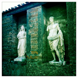 Roman Statues in the Ruins of Pompeii  Italy