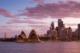 A View of the Sydney Opera House and the Downtown Skyline at Sunset