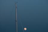 Moon and Sailboat Mast at a Marina on Kent Island on Maryland's Eastern Shore