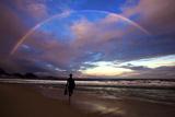 A Rainbow over Copacabana Beach in Rio De Janeiro