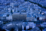 An Aerial View of Paris in the Evening
