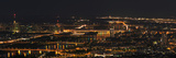 A Panoramic View of Vienna  Austria at Night