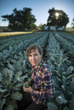 A Vegetable Farmer on Her Farm in Iowa