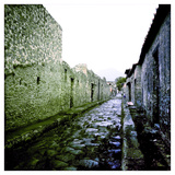 A Street in the Roman Town of Pompeii  Italy