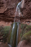 Hikers Looking at Ribbon Falls in the Grand Canyon