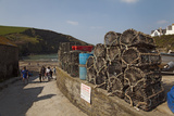 Fishermen's Crab Pots Piled Up Beside the Harbour in Port Isaac  Near Padstow  Cornwall