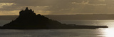 St Michael's Mount Silhouetted by the Setting Sun  Marazion  Near Penzance  Cornwall