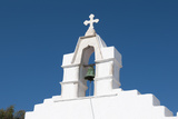 The Bell Tower of a White-Washed Greek Orthodox Church