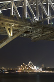 The Sydney Opera House and Harbour Bridge by Night