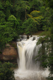 The Haew Suwat Waterfall in a Scenic Wooded Setting