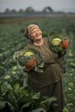 A Cabbage Farmer on Her Farm