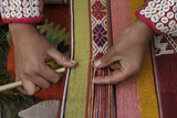 A Quechua Woman Weaves on an Andean Backstrap Loom