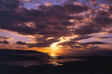 Sunset over Black Head Bay  County Mayo  Ireland