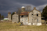 A Storm Approaches Old Abandoned Farm Buildings
