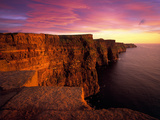 Sunset at Cliffs of Moher  County Clare  Ireland