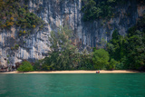 Limestone Cliffs Loom over a Remote Beach in Thailand