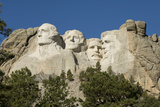 Low Angle View of Mount Rushmore on a Bright Day