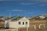 A One-Room Schoolhouse Below the Bridger Mountains