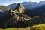 A Sunrise View of the Citadel at Machu Picchu