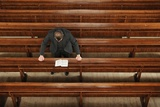 The Minister in Prayer at the Church of Scotland