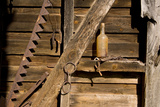 Artifacts on the Walls Reflect the Life of an Old Barn