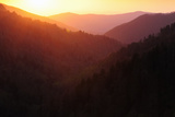 Sunset View of the Smoky Mountains
