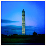 The Washington Monument with Scaffolding at Dusk