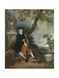 The Rev John Chafy Playing the Violoncello in a Landscape