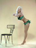 American Actress Jayne Mansfield (1933-1967) Born as Vera Jane Palmer  Here in  1965