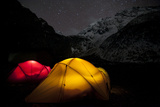 Tents Glow in the Tsum Valley Which Is in the Manaslu Region of Nepal